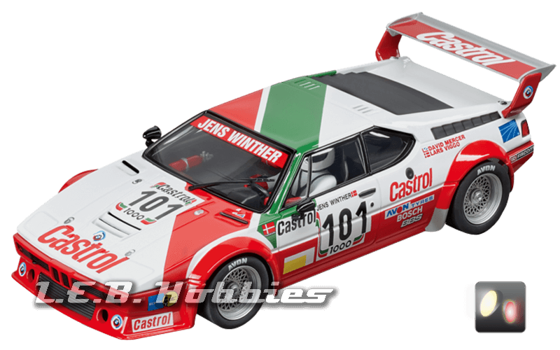 23842 Carrera D124 BMW M1 Procar, Team Castrol Denmark, No.101