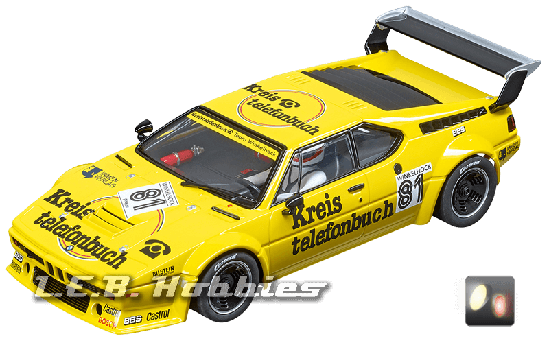 23855 Carrera D124 BMW M1 Procar, Team Winkelhock, No.81, 1979