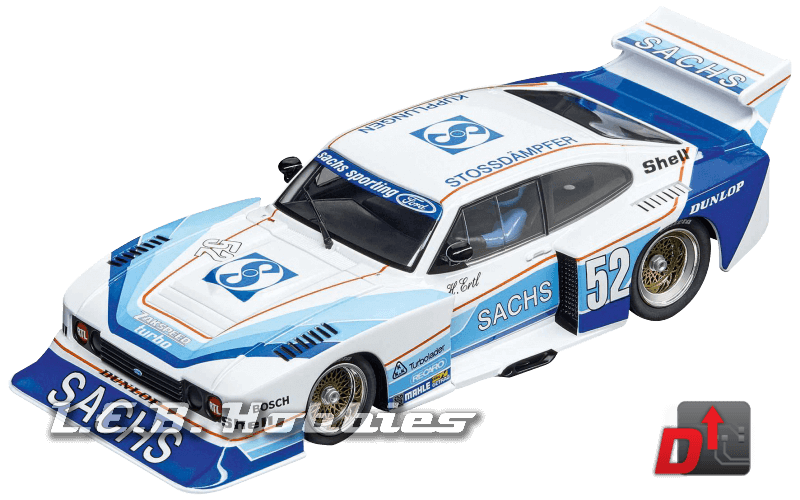 27568 Carrera Evolution Ford Capri Zakspeed Turbo Sachs Sporting