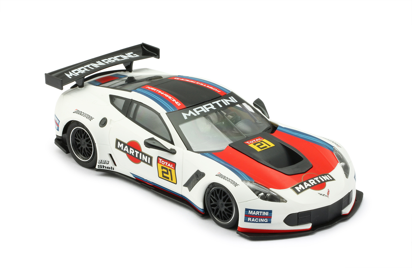 NSR 0159AW Chevrolet Corvette C7R Martini White, No.21