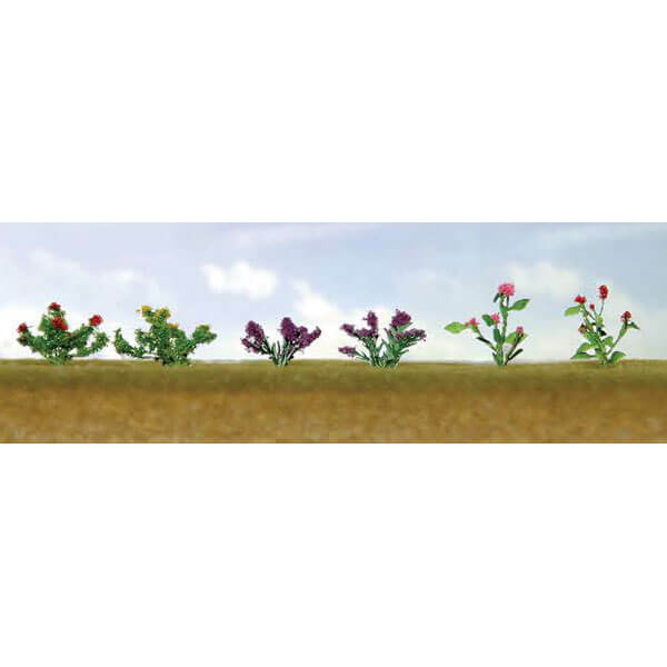 "JTT 95558 Assorted Flower Plants 1, O-Scale 1"" High, 10/pk"