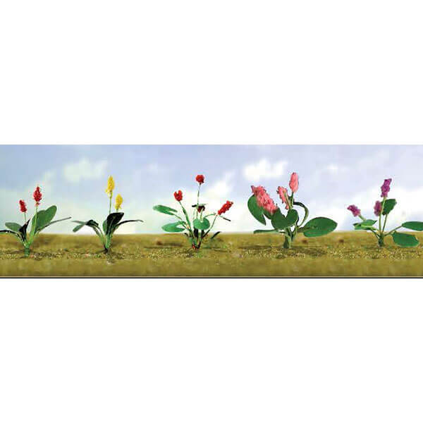 "JTT 95561 Assoted Flower Plants 3, HO-Scale 1/2"" High, 12/pk"