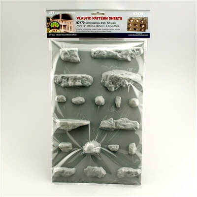 JTT 97470 All-Scale Outcroppings Plastic Pattern Sheet, 2/pk