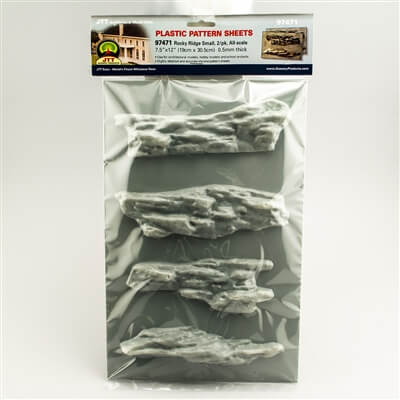 JTT 97471 All-Scale Rocky Ridge Small Pattern Sheet, 2/pk