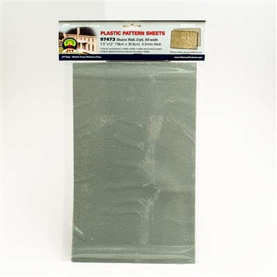JTT 97473 1:200 N-Scale Stucco Wall Pattern Sheet, 2/pk