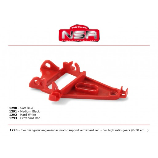 NSR1293 NSR Triangular AW Motor Mount High Gear Ratio ExHard Red