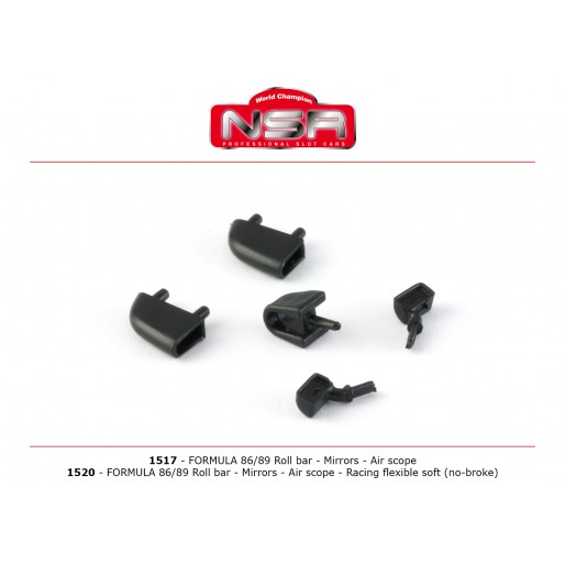 NSR1520 NSR Formula 86/89 Roll bar, Mirrors, Air scope-Flexible
