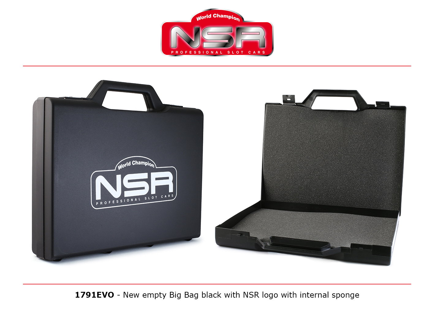 NSR1791EVO NSR Big Carrying Case with Logo and Internal Sponge
