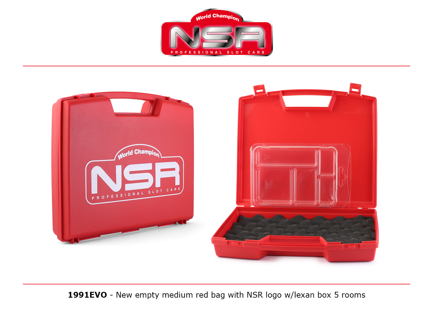 NSR1991EVO NSR Medium Carrying Case w/ Logo & Lexan Box 5 Rooms