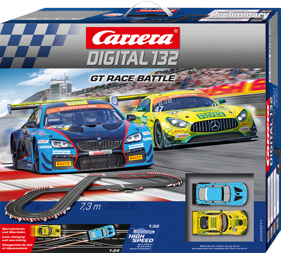 30011 Carrera Digital 132 GT Race Battle