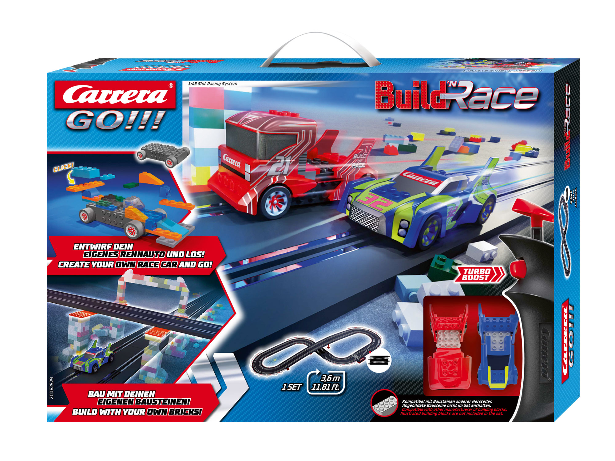 Carrera 62529 GO!!! Build 'N Race - Racing Set 3.6