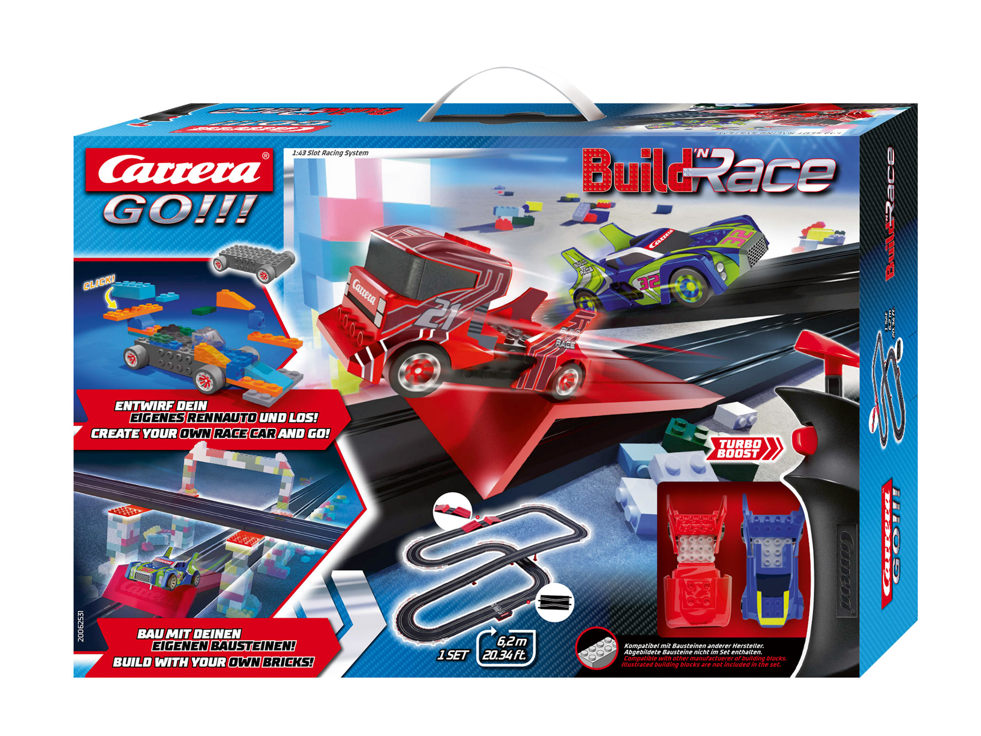 Carrera 62531 GO!!! Build 'N Race - Racing Set 6.2