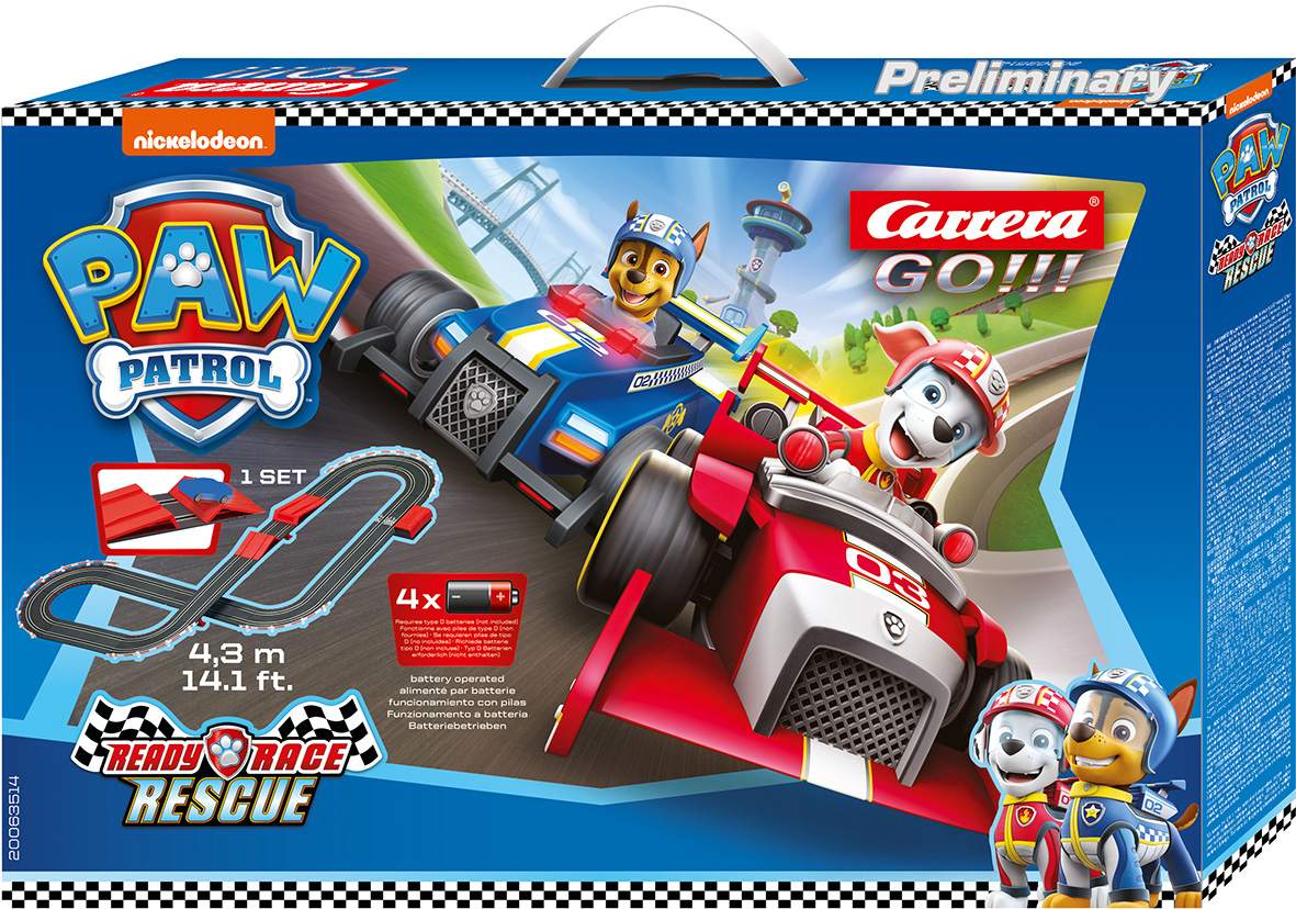 63514 Carrera 1:43 Paw Patrol Ready Race Rescue Battery Op