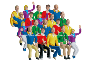 21129 Carrera Set of Figures, Grandstand