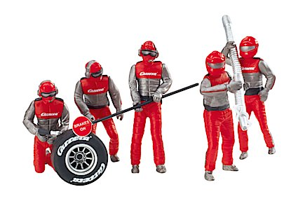 21131 Carrera Set of Mechanics Figures, Red