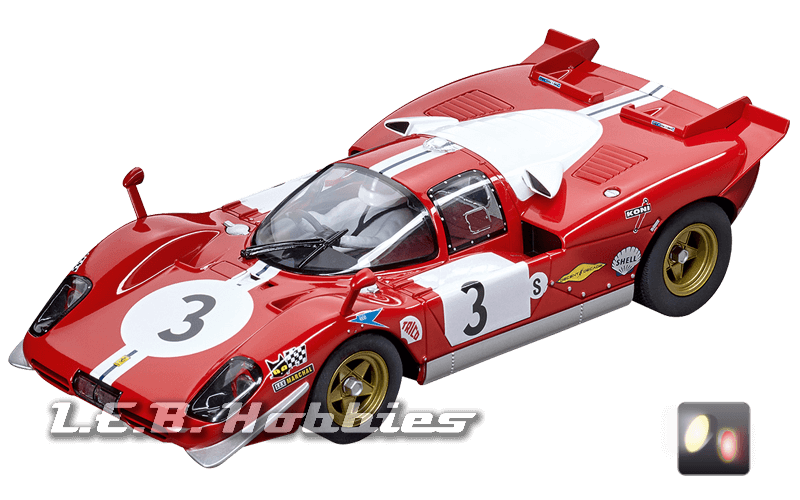 23856 Carrera Digital 124 Ferrari 512S Scuderia Filipinetti No.3