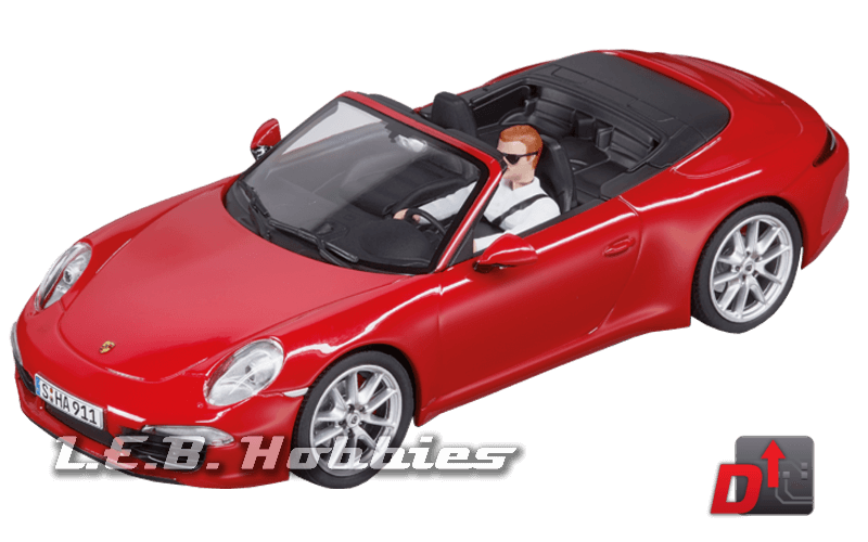 27534 Carrera Evolution Porsche 911 Carrera S Cabriolet, Red