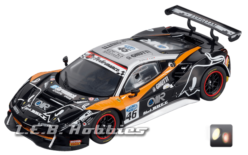30808 Carrera D132 Ferrari 488 GT3, Black Bull Racing, No.46