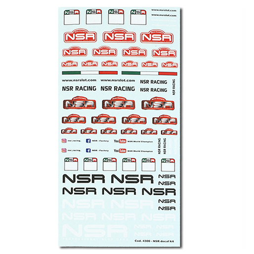 NSR 4300 Decals Kit 15x8cm