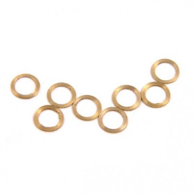 "NSR4811 NSR 3/32"" Brass Axle Spacers 0.010""/0.25mm, 10/pk"