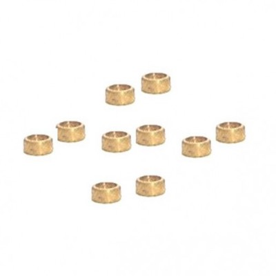 "NSR 4814 3/32"" Brass Axle Spacers 0.60""/1,50mm, 10/pk"