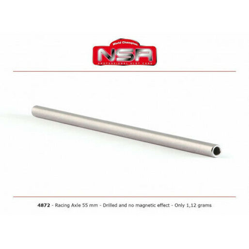 "NSR 4872 3/32"" Drilled Steel Axle 55mm, no magnetic effect"