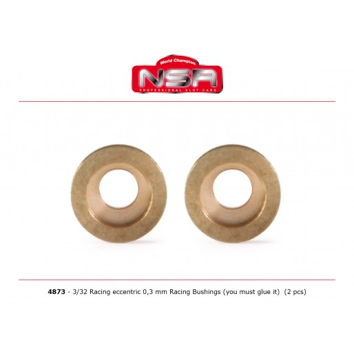NSR4873 NSR 3/32 Racing Eccentric Bushings 0.3 mm Autolubricant