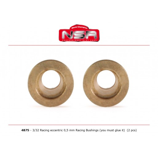 NSR4875 NSR 3/32 Racing Eccentric Bushings 0.5 mm Autolubricant
