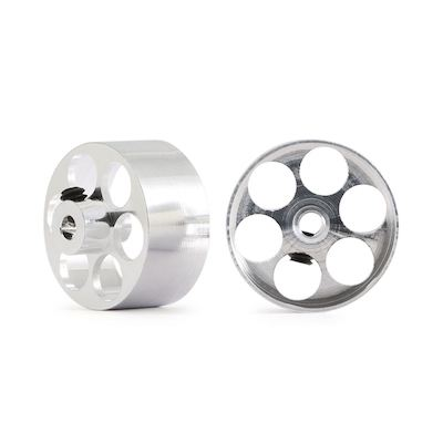NSR 5007 Aluminum Front Wheels O.D.17 x 8mm Fly Truck, 2/pk