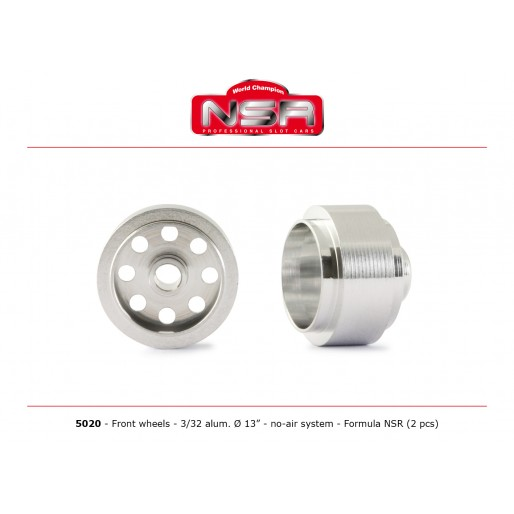 NSR5020 NSR 3/32 Alum. Front Wheels Ø 13x8mm No Air, Formula NSR