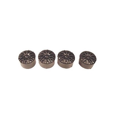 "NSR5423 NSR BBS Type Wheel Inserts for 16"" Wheels Black, 4/pk"