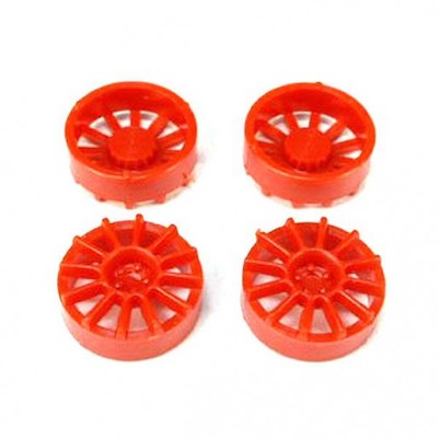 "NSR 5428 12 Spoke Wheel Inserts for 17"" Wheels Red, 4/pk"