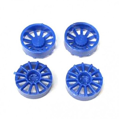 "NSR 5429 12 Spoke Wheel Inserts for 17"" Wheels Blue, 4/pk"