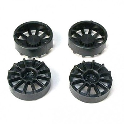 "NSR 5430 12 Spoke Wheel Inserts for 17"" Wheels Black, 4/pk"