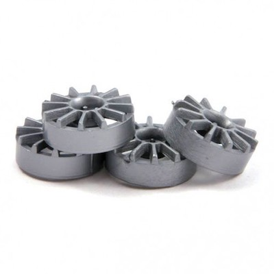 "NSR 5432 12 Spoke Wheel Inserts for 17"" Wheels Silver, 4/pk"
