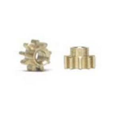 NSR 6809 Pinions 9t Inline Extralight Brass 5.5mm, 2/pk