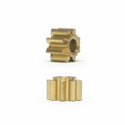 NSR 7010 Pinions 10t Inline Low Friction Brass 5.5mm, 2/pk