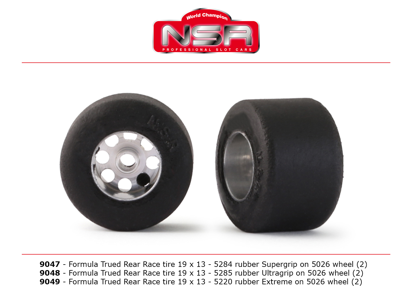 NSR9047 3/32 Formula Trued 5287 Rear Supergrip 19x13 on Wheel