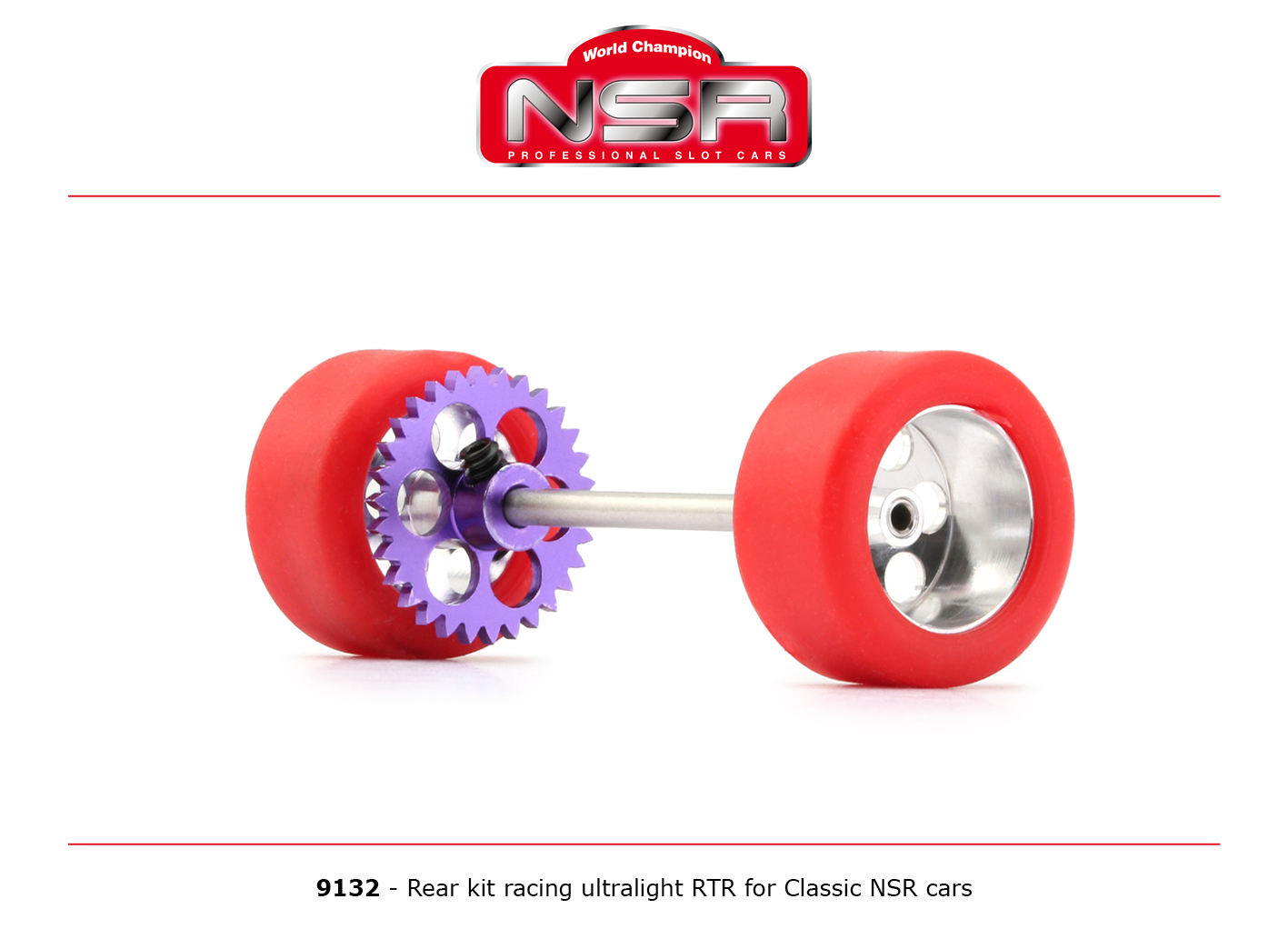 NSR9132 NSR Rear Axle Kit Ultralight RTR for Classic NSR Cars