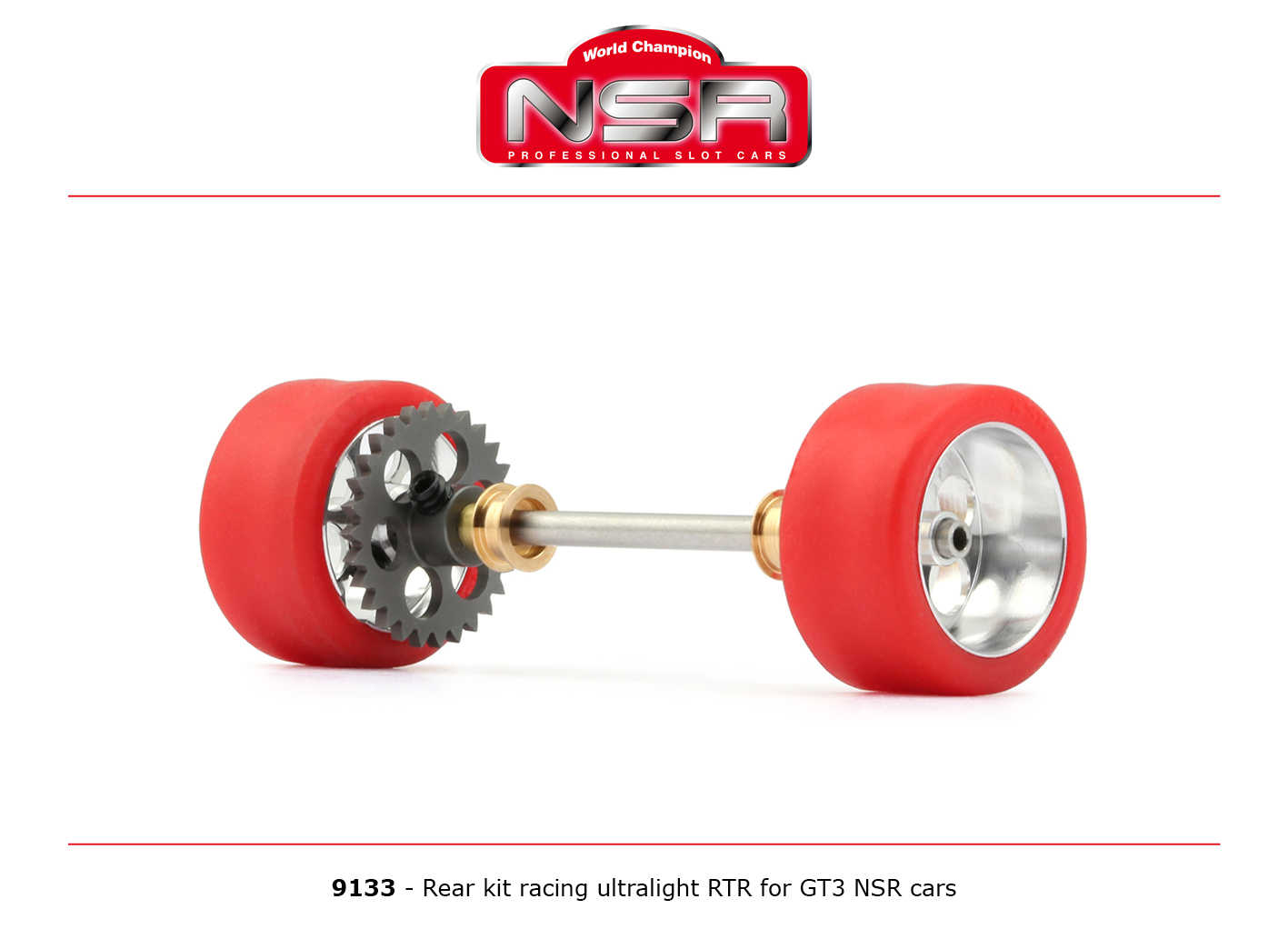 NSR9133 NSR Rear Axle Kit Ultralight RTR for GT3 NSR Cars