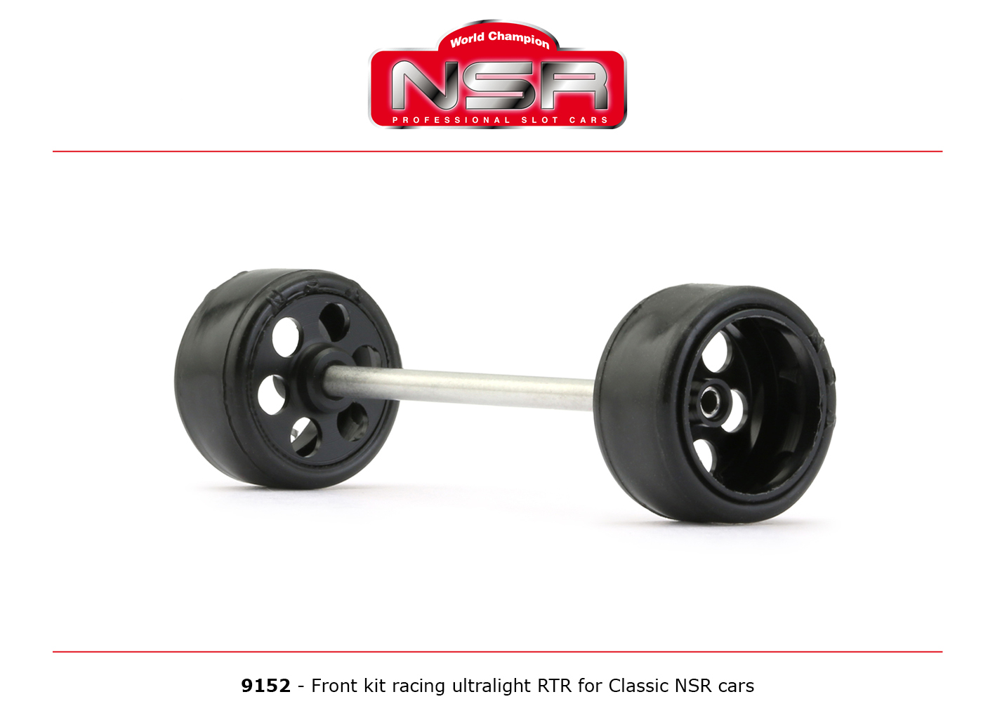 NSR9152 NSR Front Axle Kit Ultralight RTR for Classic NSR Cars