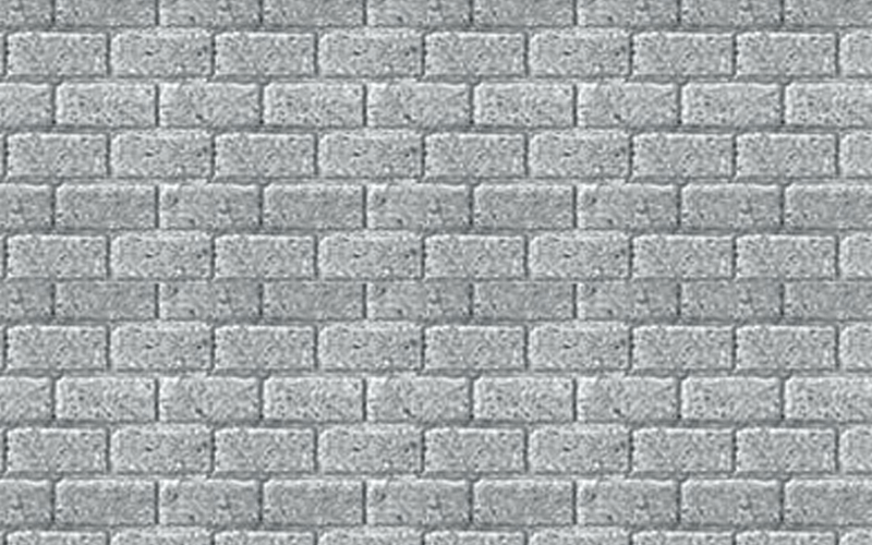 JTT 97425 1:100 HO-Scale Concrete Block Pattern Sheet, 2/pk