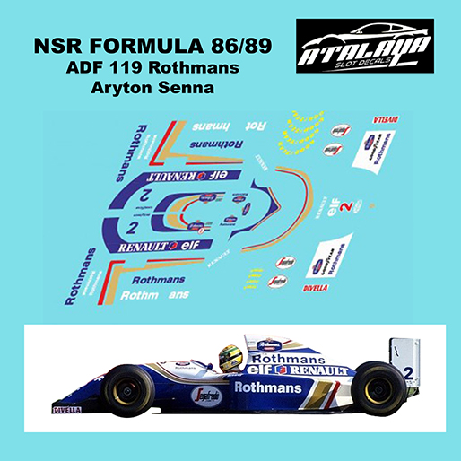 Atalaya ADF119 NSR Formula 86/89 1994 Williams FW16 Rothmans