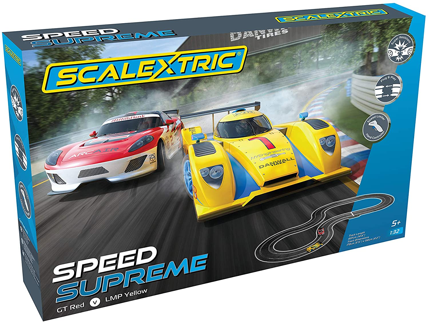 C1420T Scalextric Speed Supreme (GT v LMP)