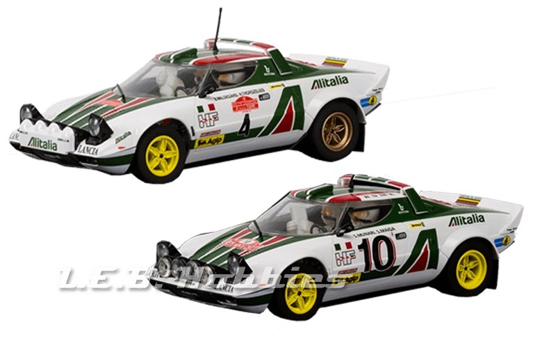 C3894A Scalextric Lanica Stratos 1976 Rally Champions Twin pack