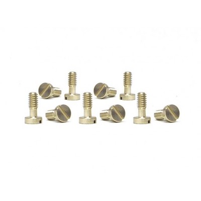 SICH54 Slot.it Motor Pod Screws 2.2x5.3mm, Brass, Large Head