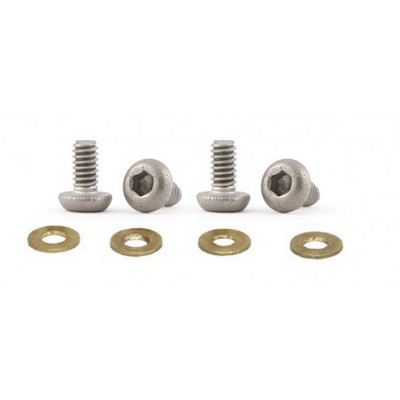 SICH90 Slot.it HRS Motor Fixing Screws M2 x 4mm, Titanium, 4/pk
