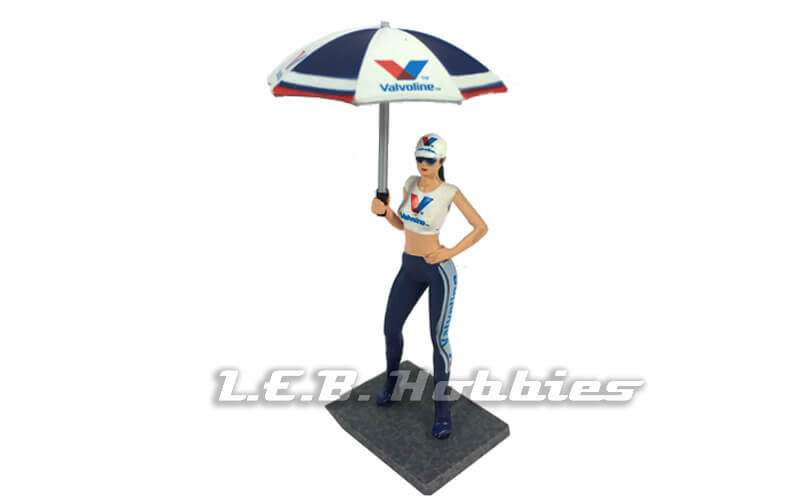 Racer Sideways SWFIG/013 Valvoline Grid Girl w/ Umbrella, Milla