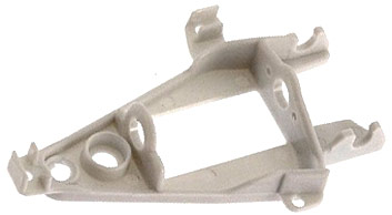 NSR 1253 Triangular Inline Long Can Motor Mount Hard, White
