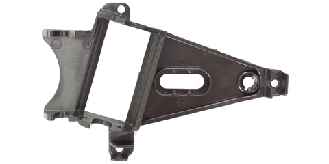 NSR1257 Triangular Anglewinder Long Can Motor Mount Medium Black